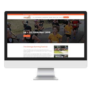 orangerunningfestival-events-website-design-sydney